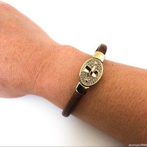 Fossil Turn Lock Leather Bracelet